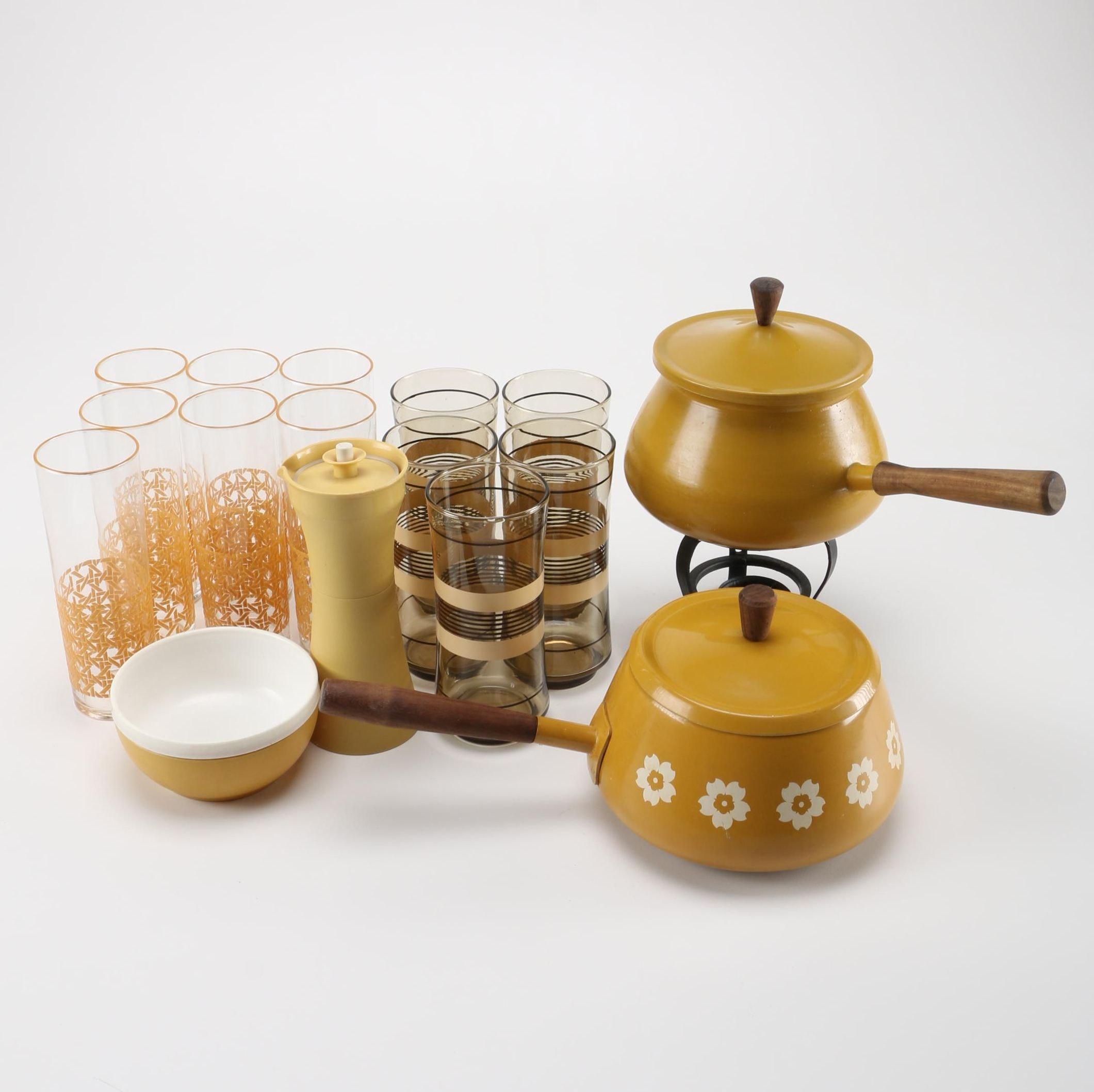 Vintage Yellow Kitchenalia