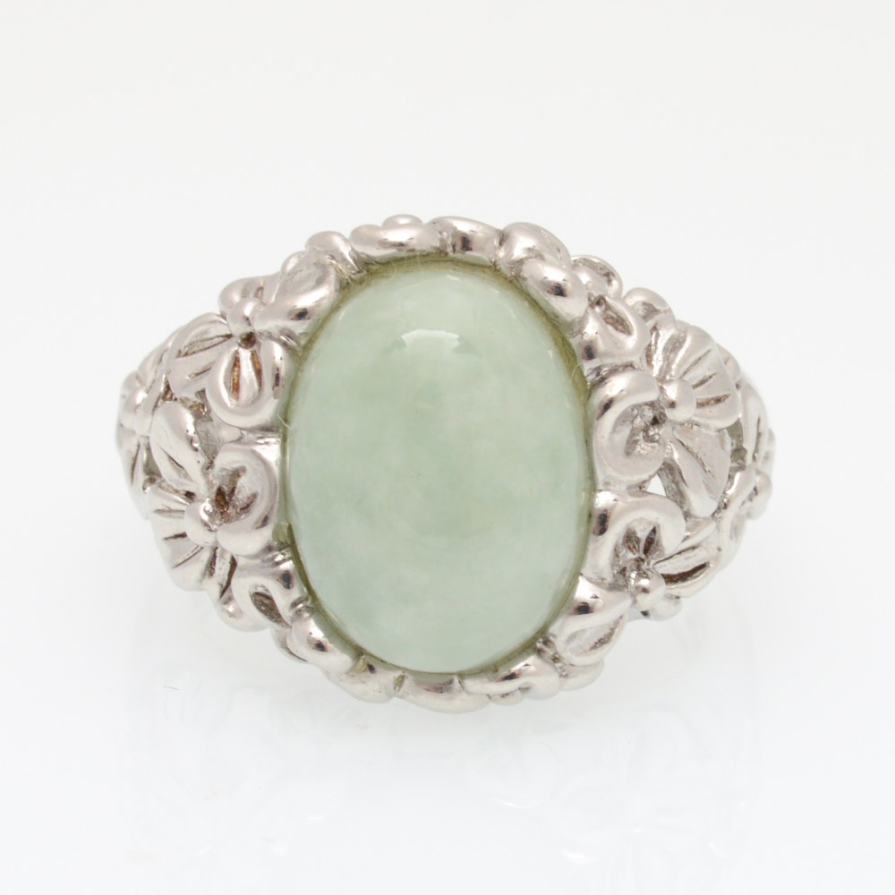 Sterling Silver Quartz Cabochon Ring