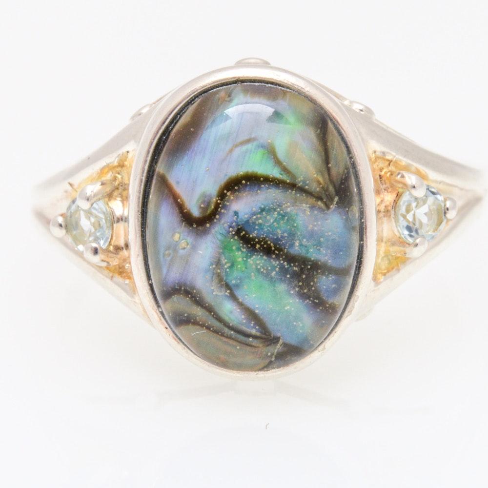 Sterling Silver Imitation Gemstone Ring by Avon
