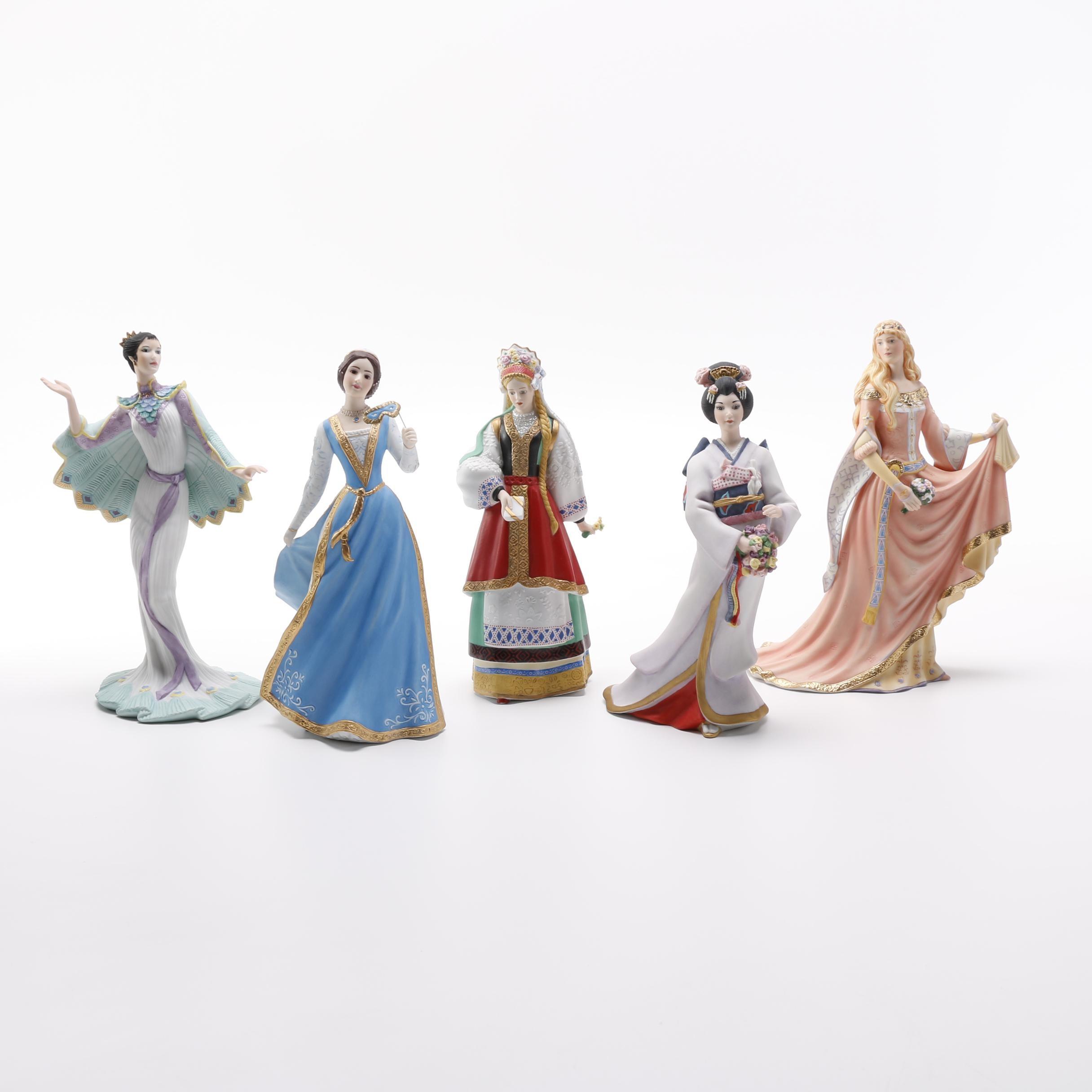 "Lenox ""Legendary Princesses"" and ""International Bride"" Figurines"