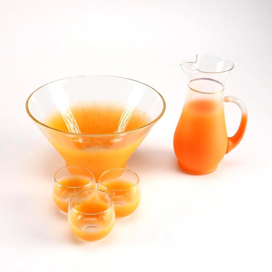 Mid-Century Blendo Orange Glassware