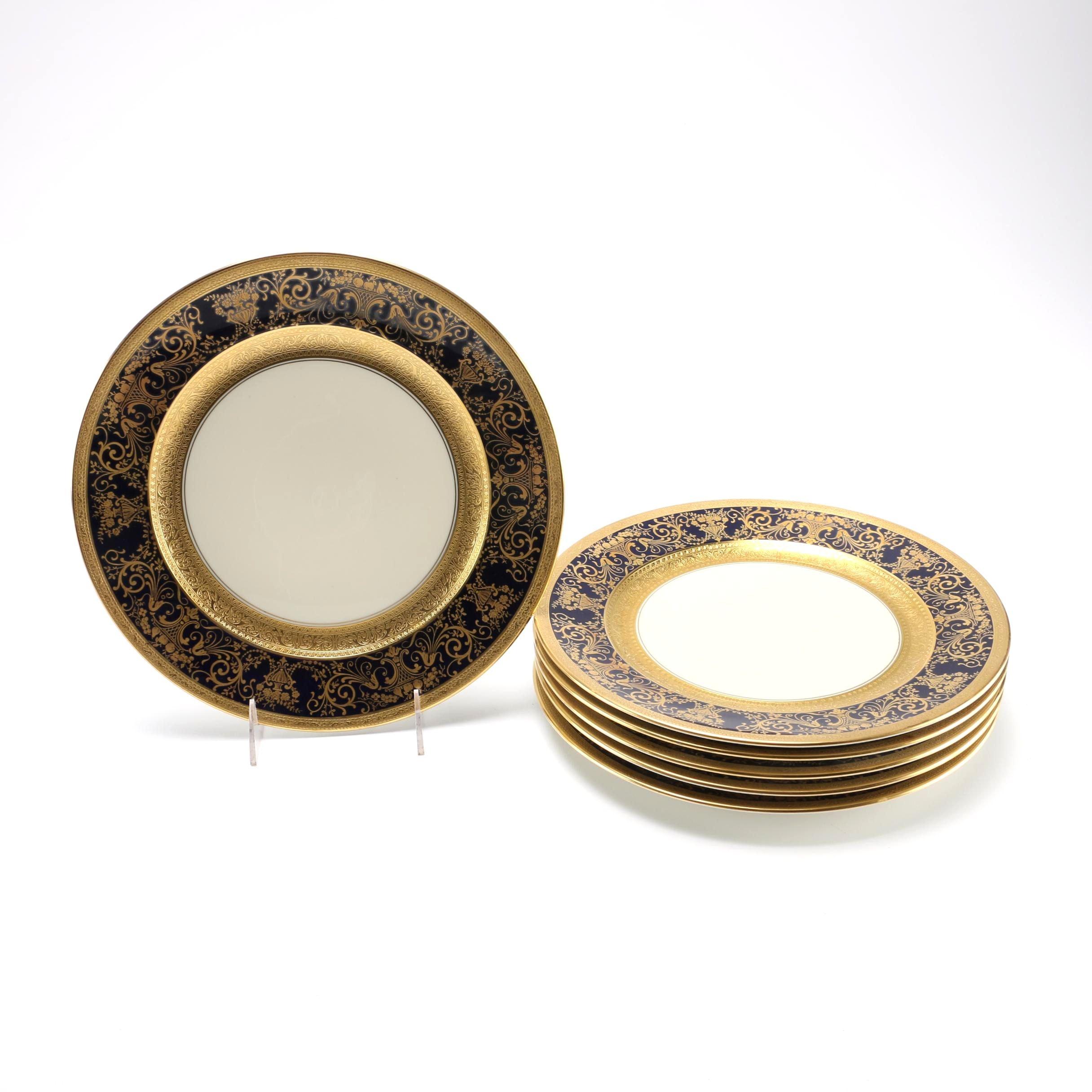 Ovingtons Gold Tone China Plates