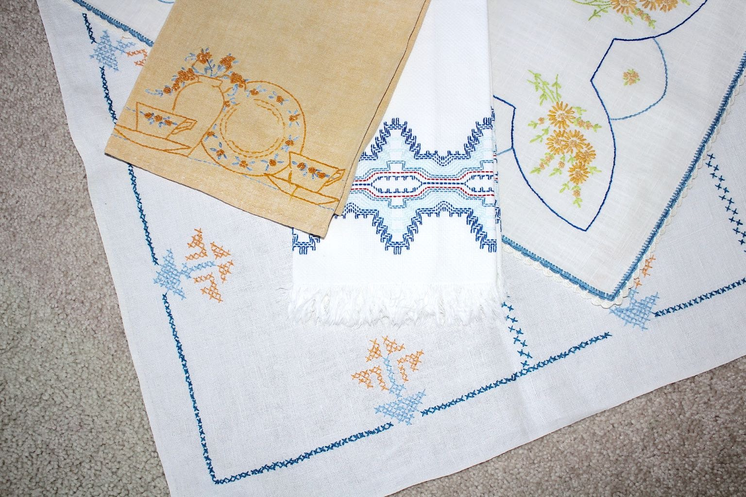 Vintage Hand Decorated Linens