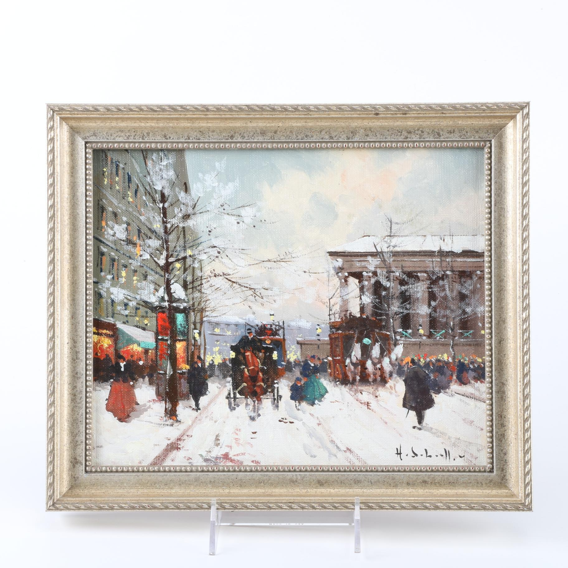 Henry Alexis Schaeffer Signed Original Oil on Canvas