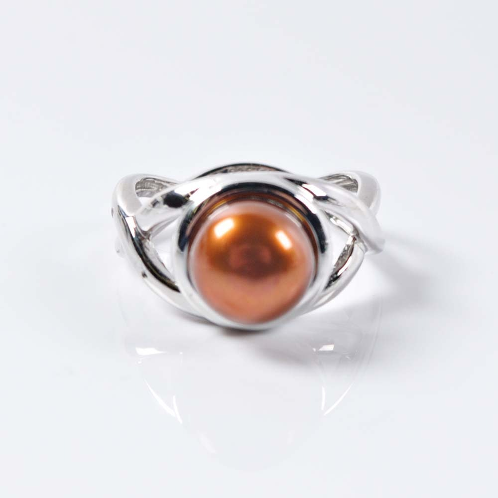 Honora Sterling Silver and Chocolate Freshwater Pearl Ring