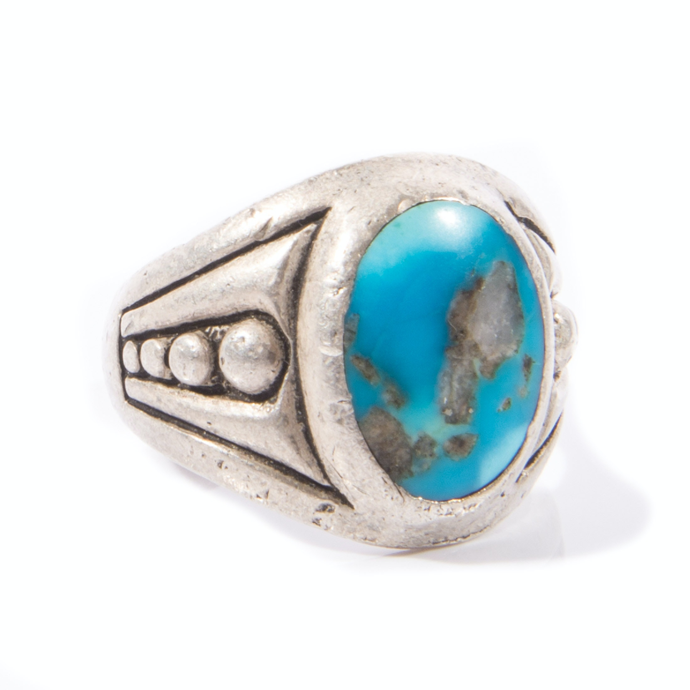 Native American Style Sterling Silver Turquoise Ring