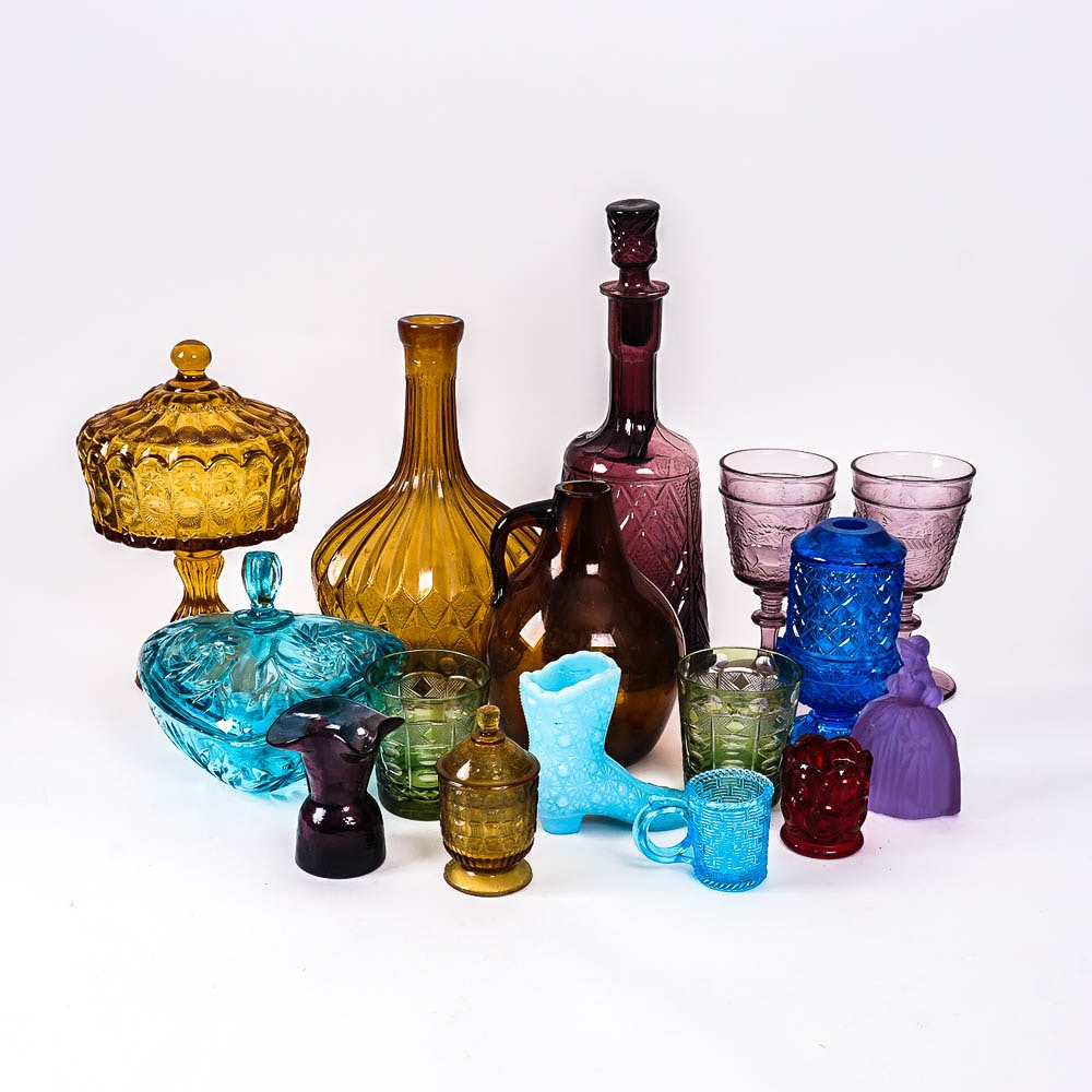 Mid 20th Century Colored Glass Home Decor