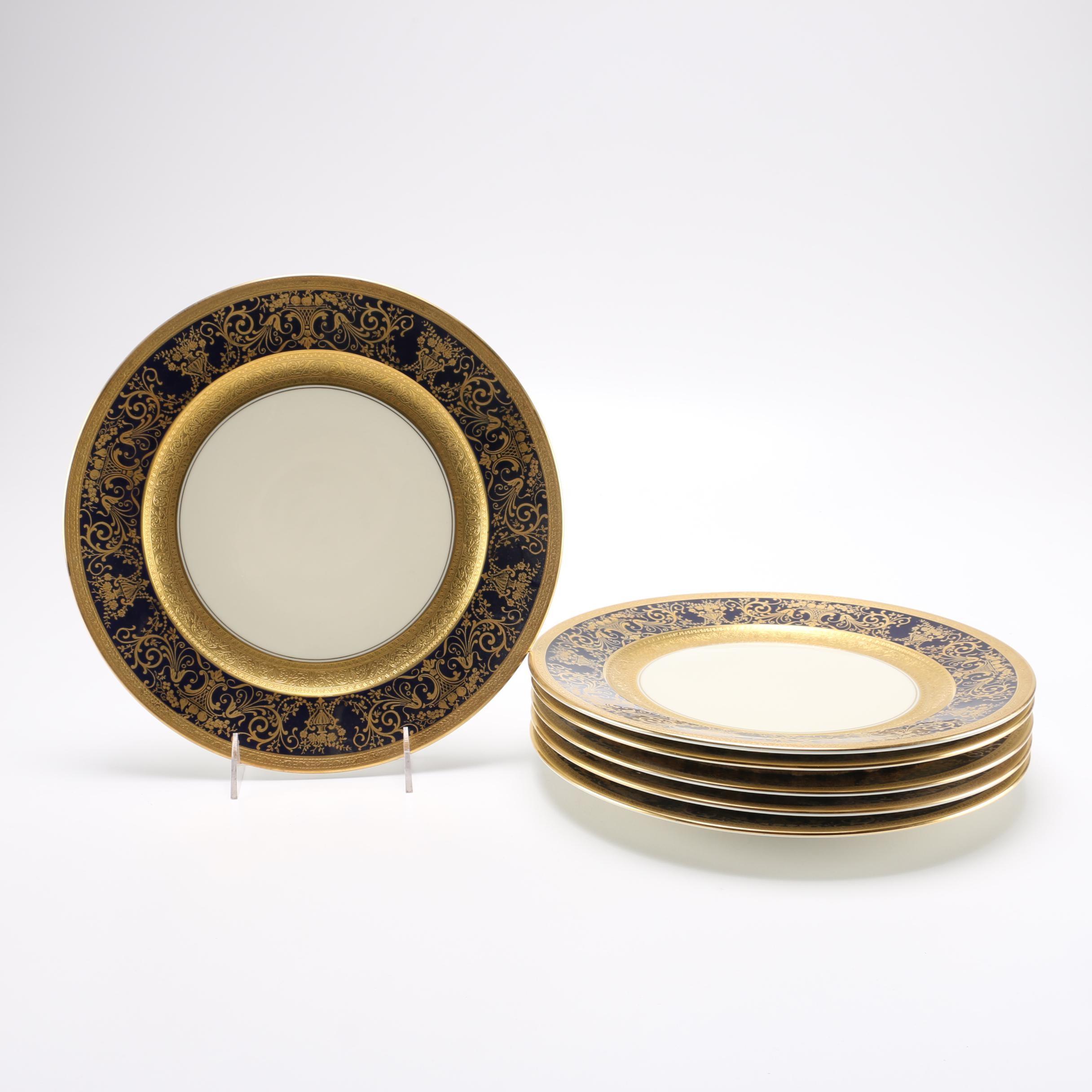 Gold Tone Ovingtons China Dinner Plates