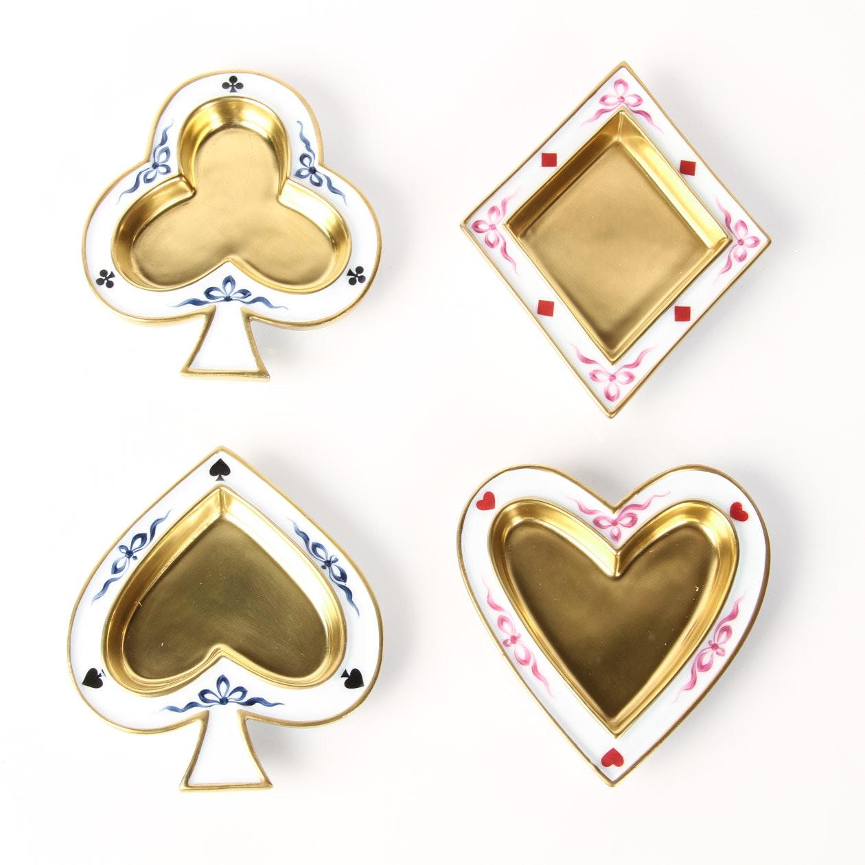Limoges Card Suit Dish Set by Fabergé