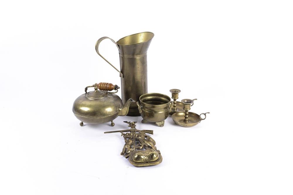 Assortment of Brass Decor