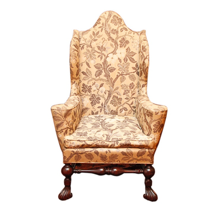 William And Mary Style Wing Chair ...