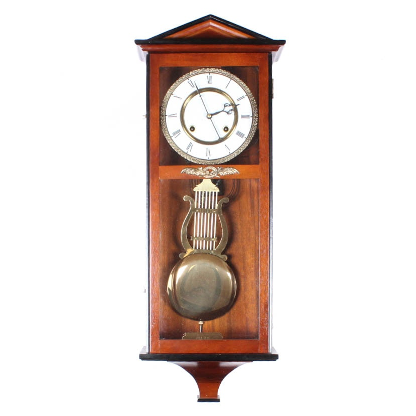 Vintage Brass Pendulum Chiming Wall Clock