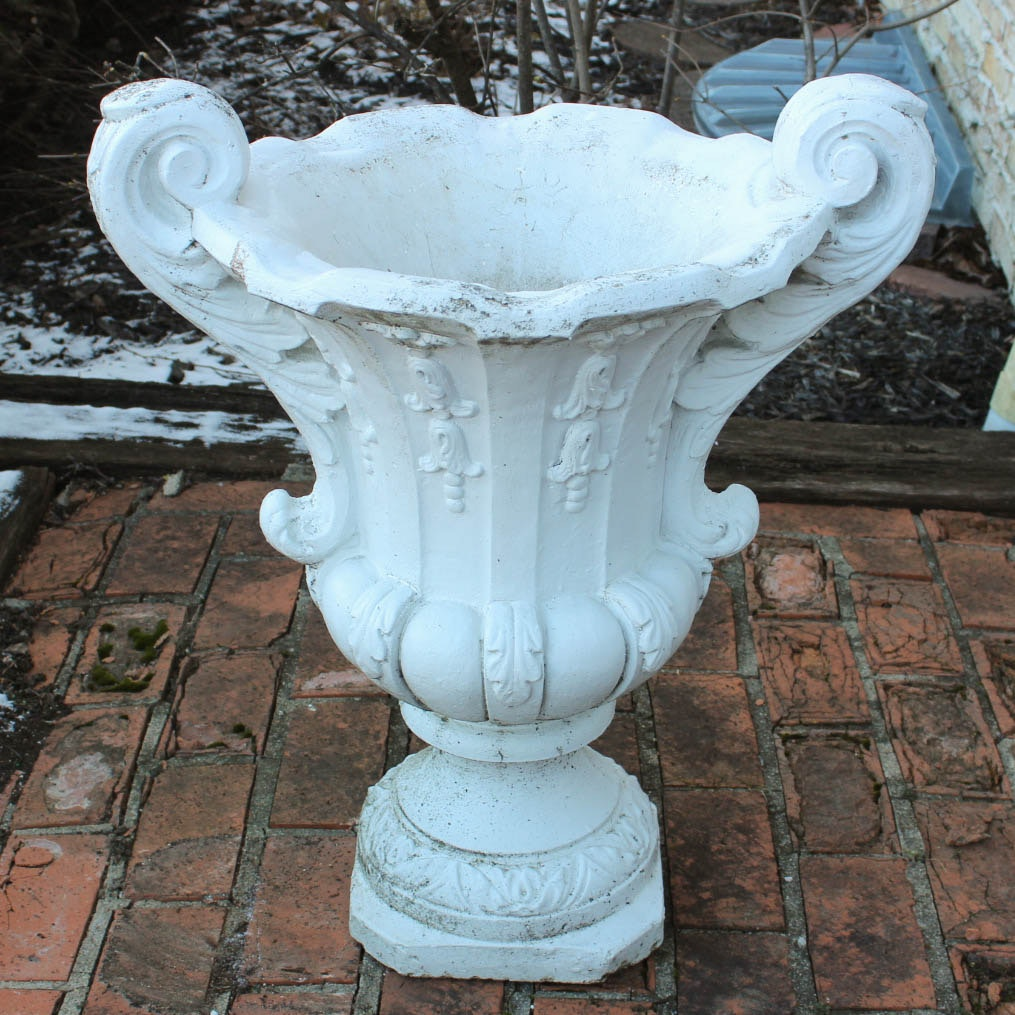 Outdoor Concrete Pedestal Urn