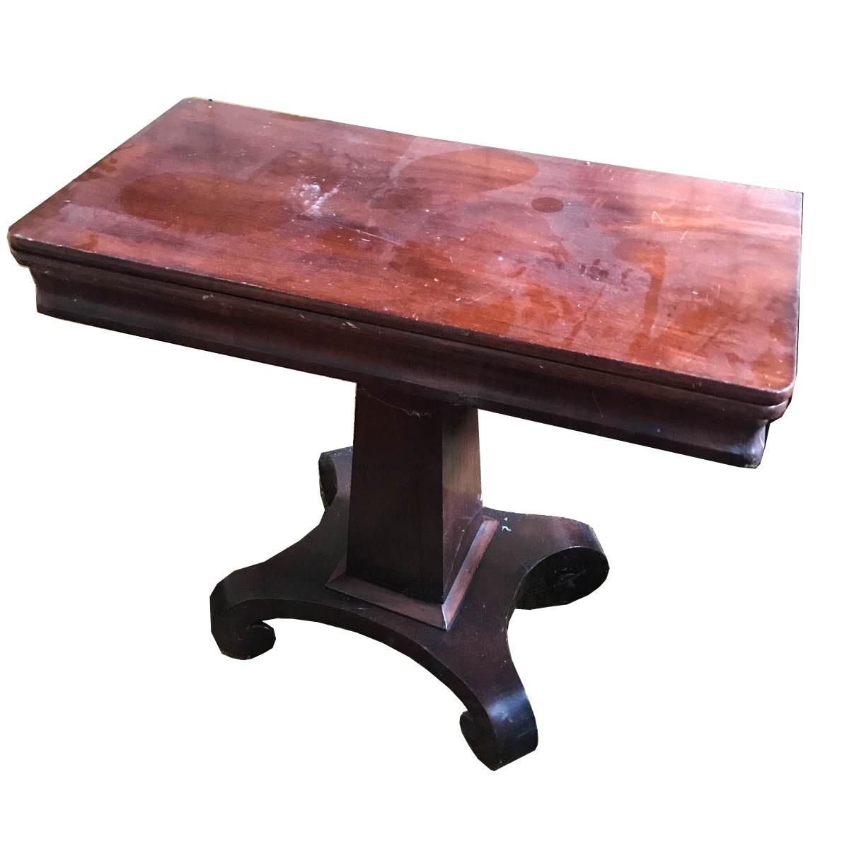 Vintage Flip-Top Game Table