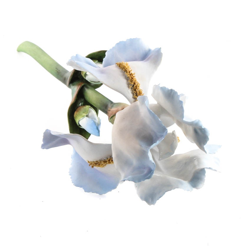 Boehm Porcelain Blue Iris Stem