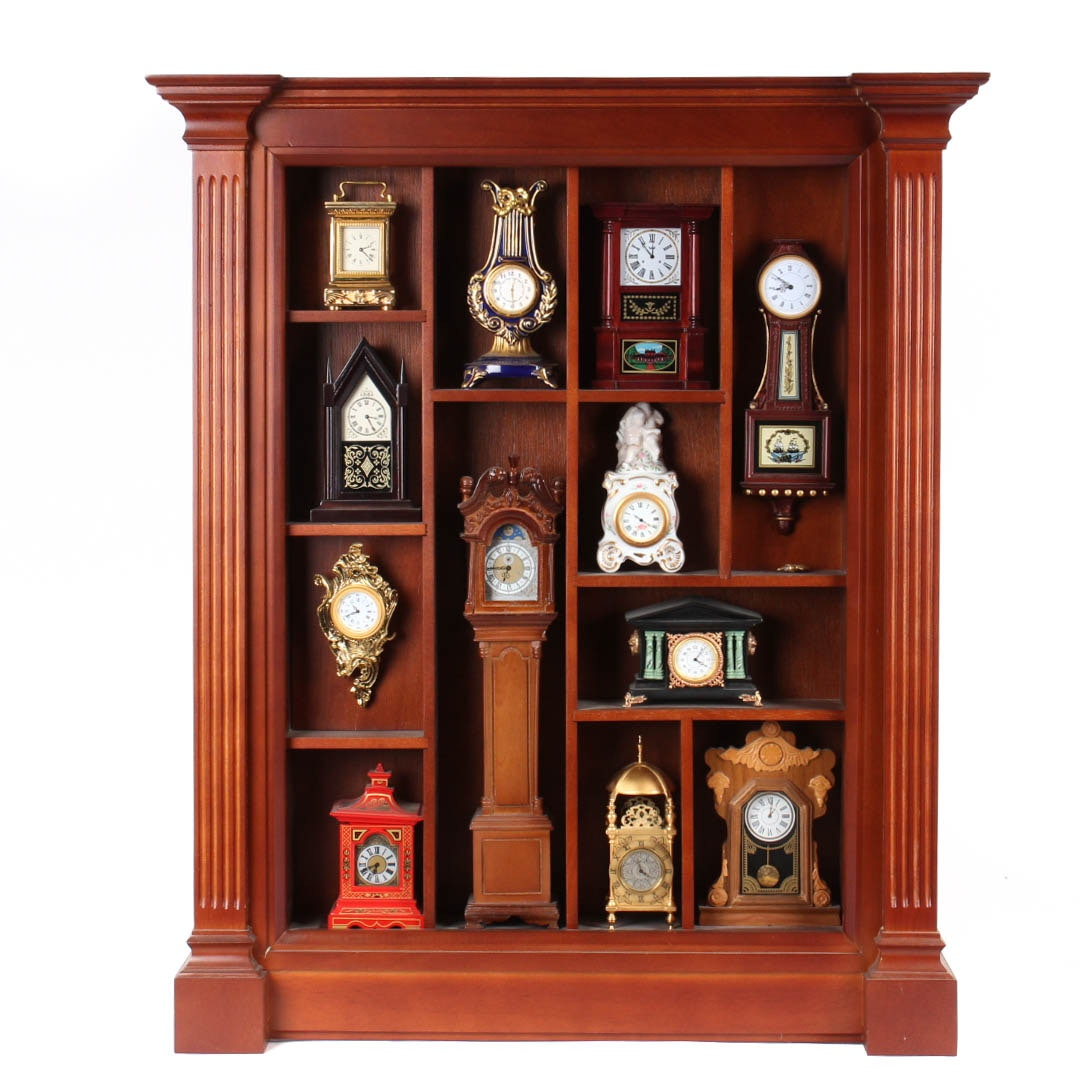 Collection of Miniature Clocks by the Franklin Mint
