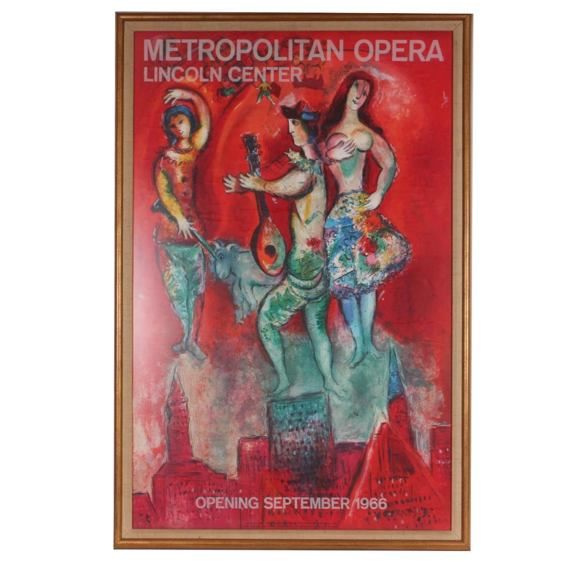 Marc Chagall Lithograph Metropolitan Opera Poster Print