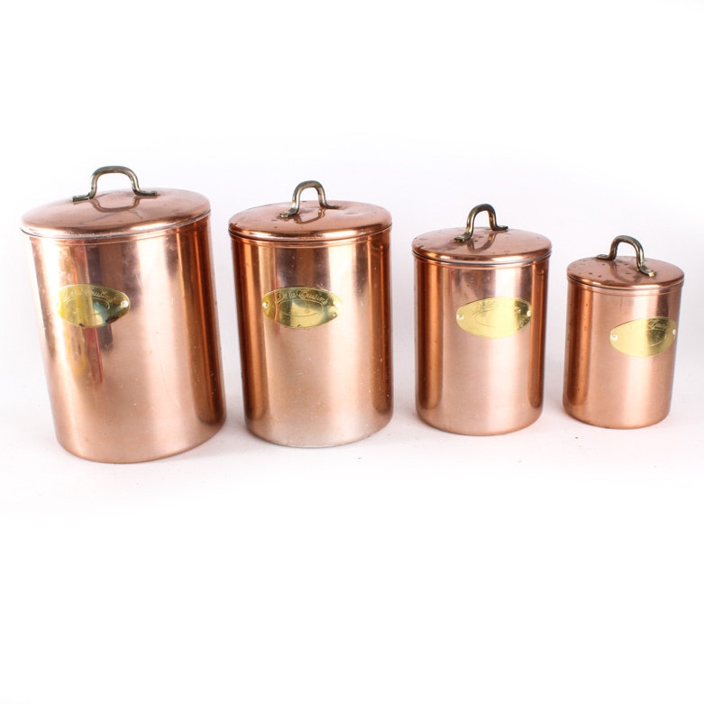 copper de la cuisine kitchen canisters ebth