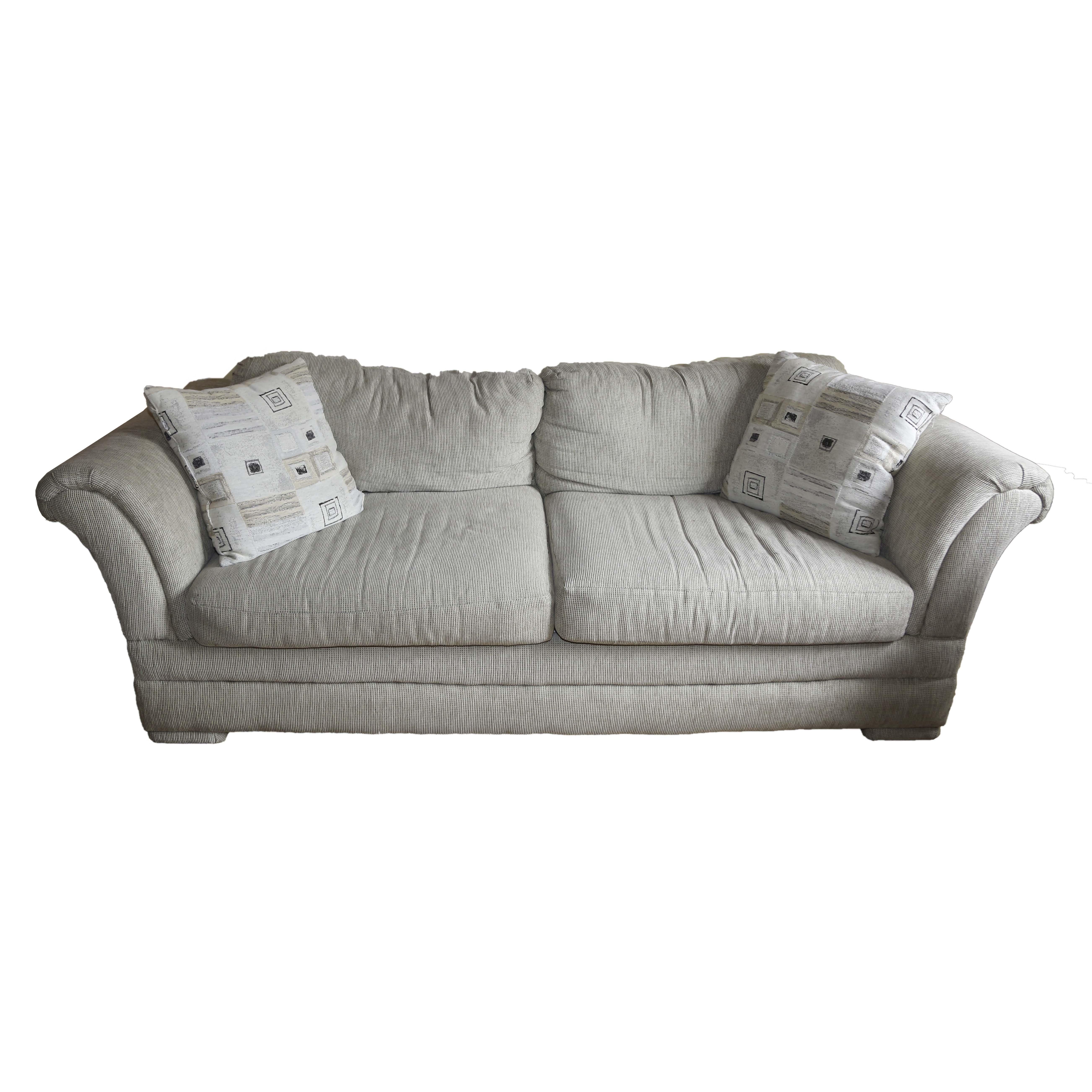 Upholstered Two Cushion Sofa