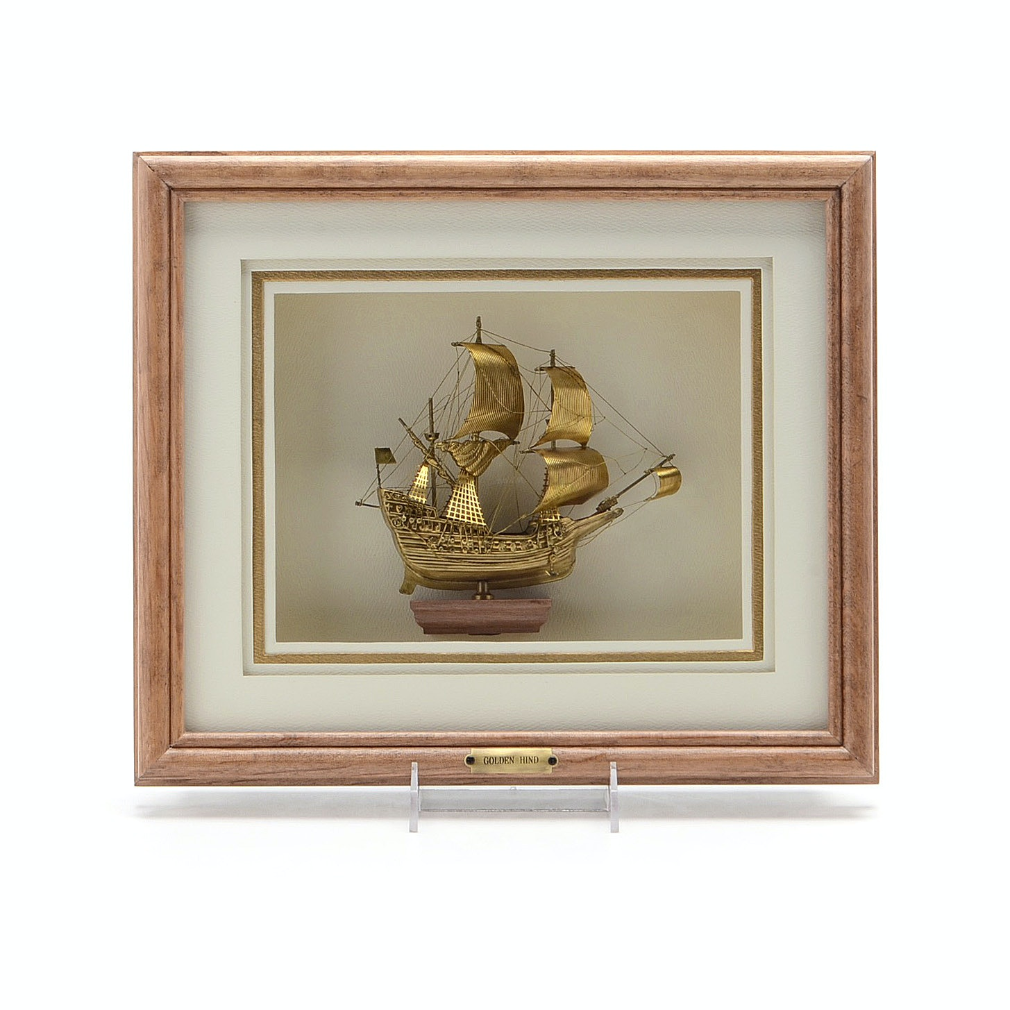 Golden Hind Brass Model