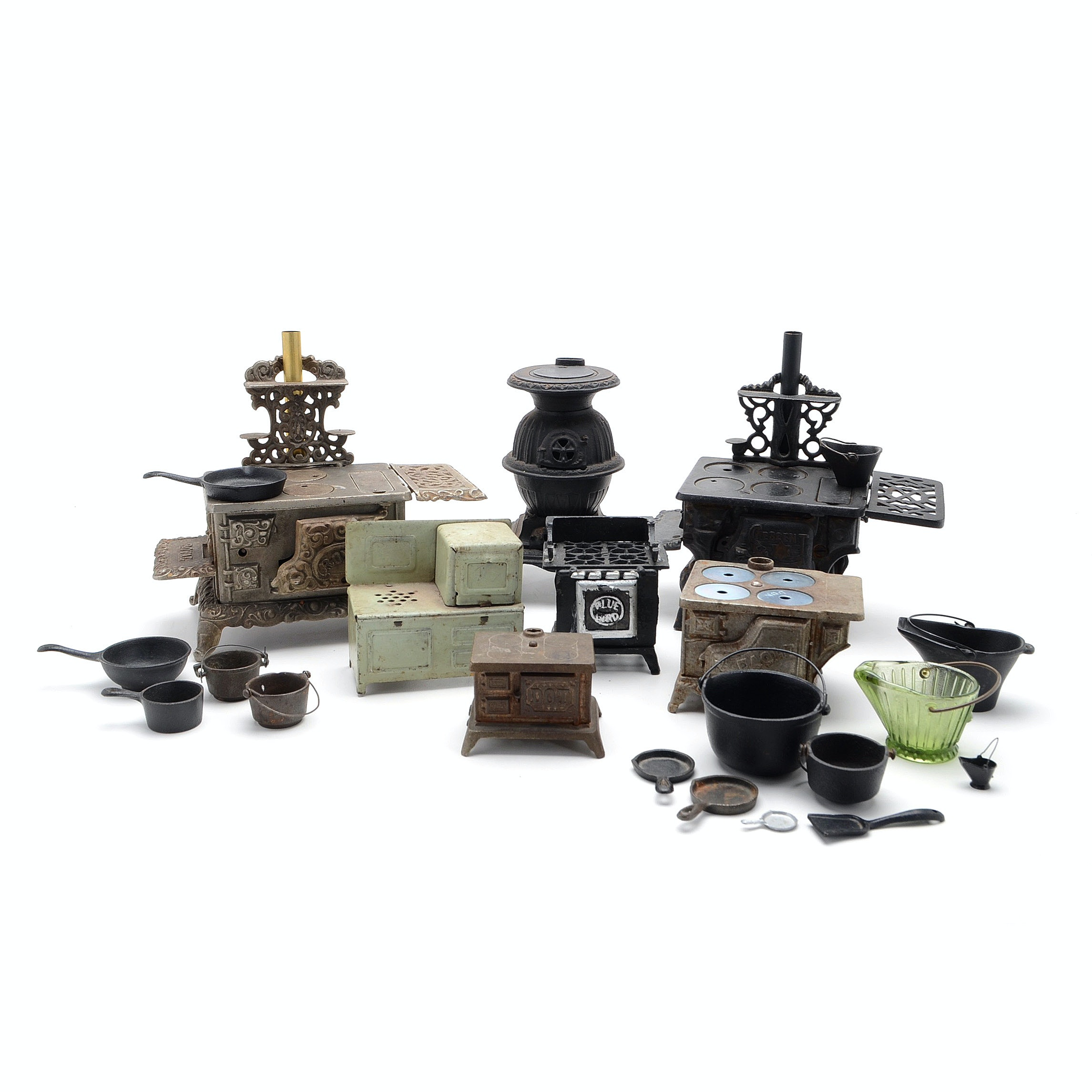 Cast Iron Salesman Sample and Toy Stoves