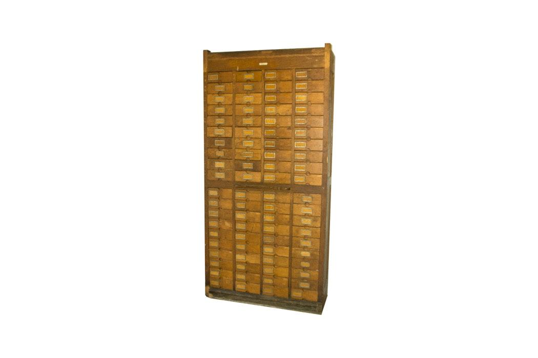 Antique Oak Woodruff Patent Cabinet