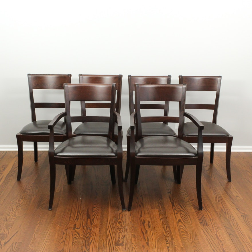 William Sonoma Italian Espresso Cherry Dining Chairs