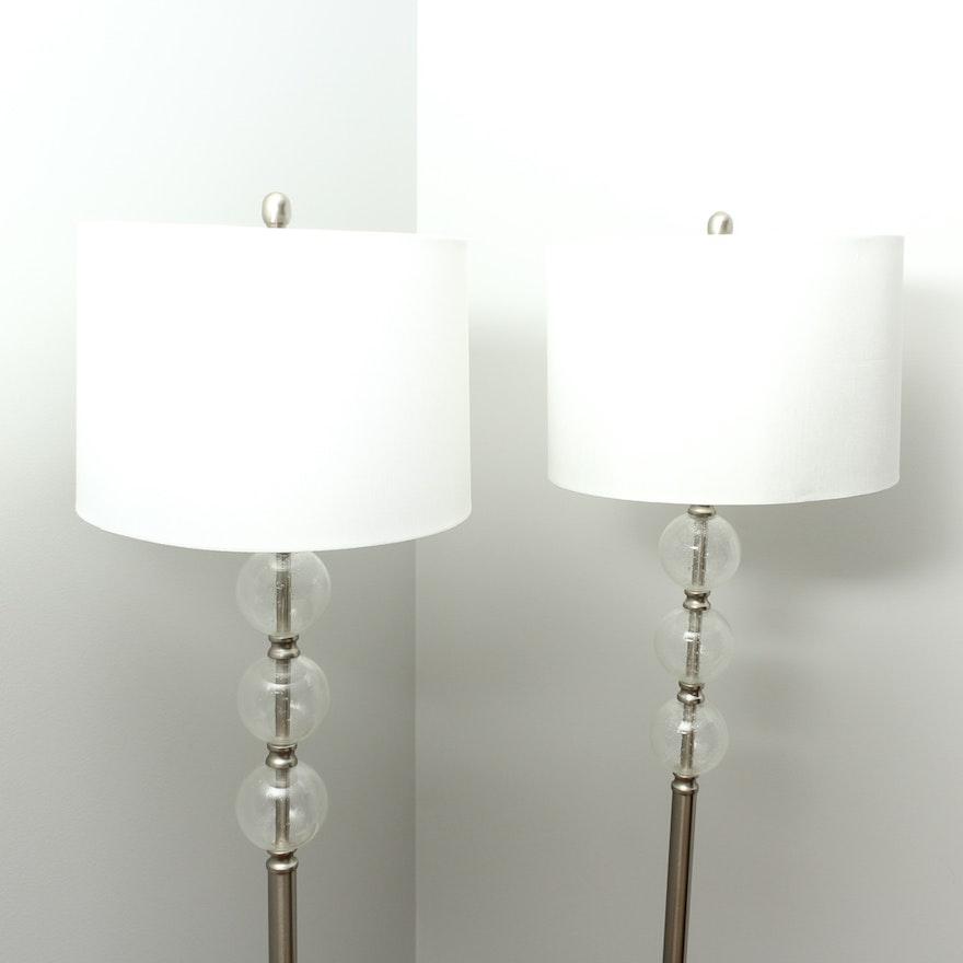 Pair Of Allen Roth Floor Lamps