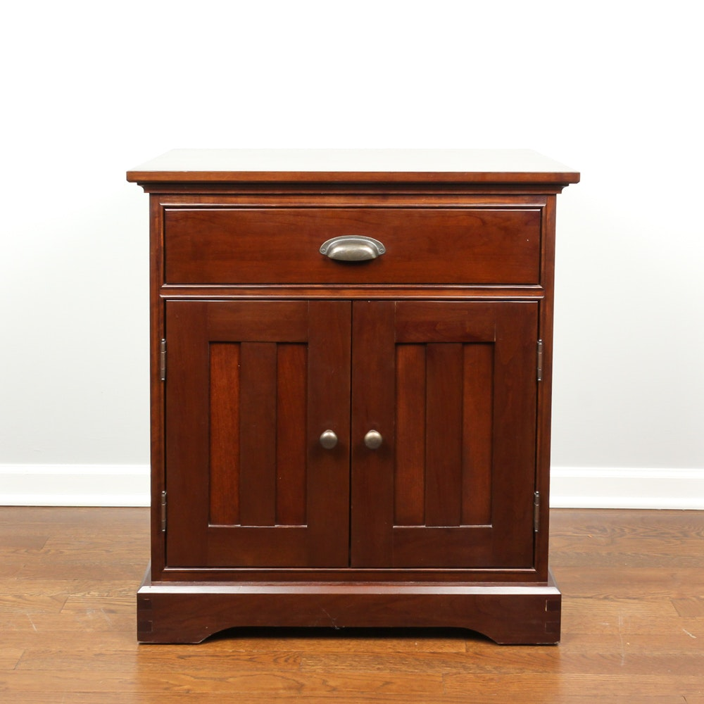 "Restoration Hardware ""Marston"" Cherry Nightstand by Michaels Furniture"