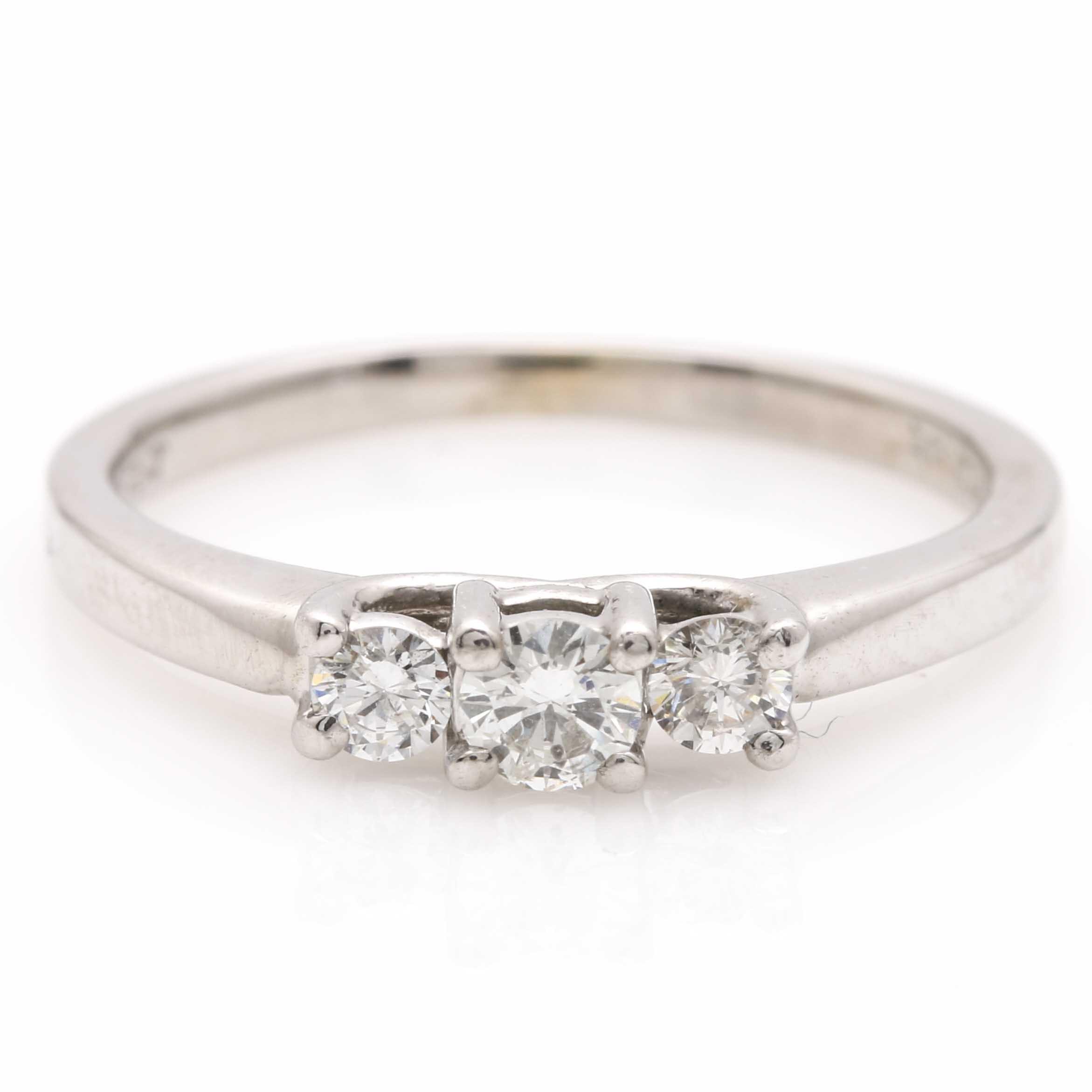 Magic-Glo 14K White Gold and Platinum Diamond Ring