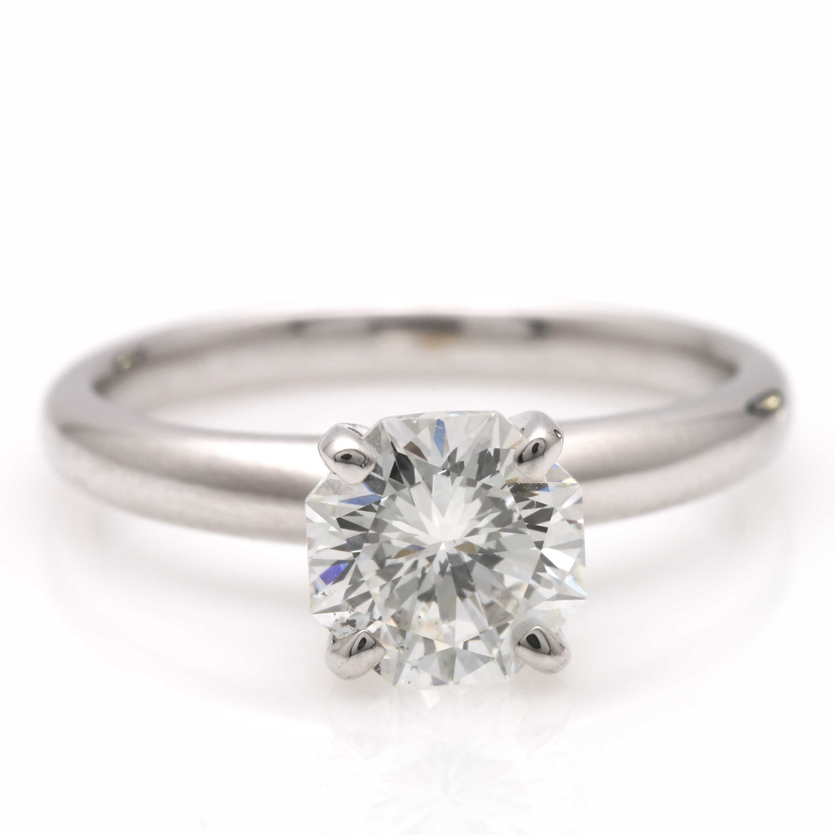 14K White Gold 1.20 CTS Diamond Solitaire Ring