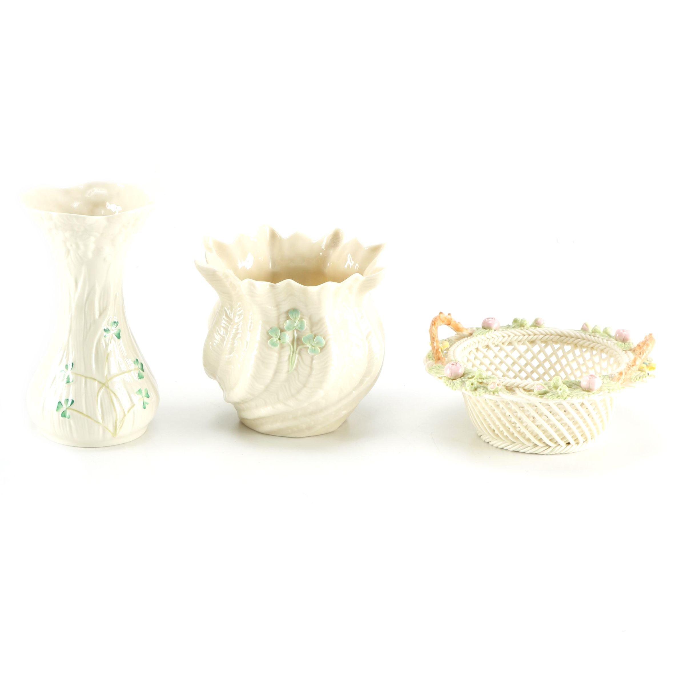 Porcelain Vessels Featuring Belleek