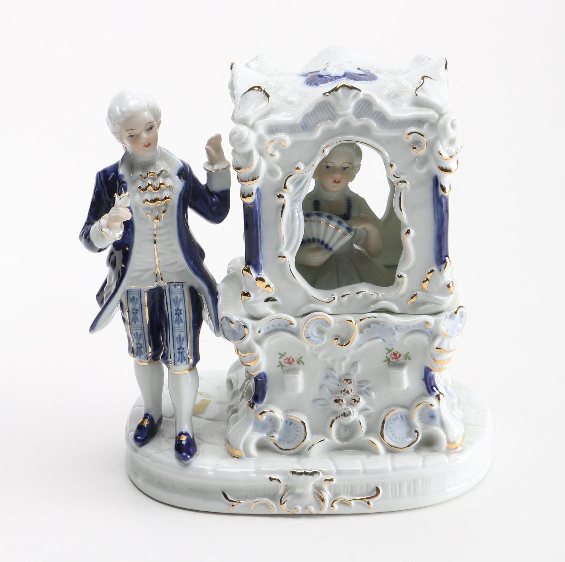 Porcelain Victorian Coach Figurine