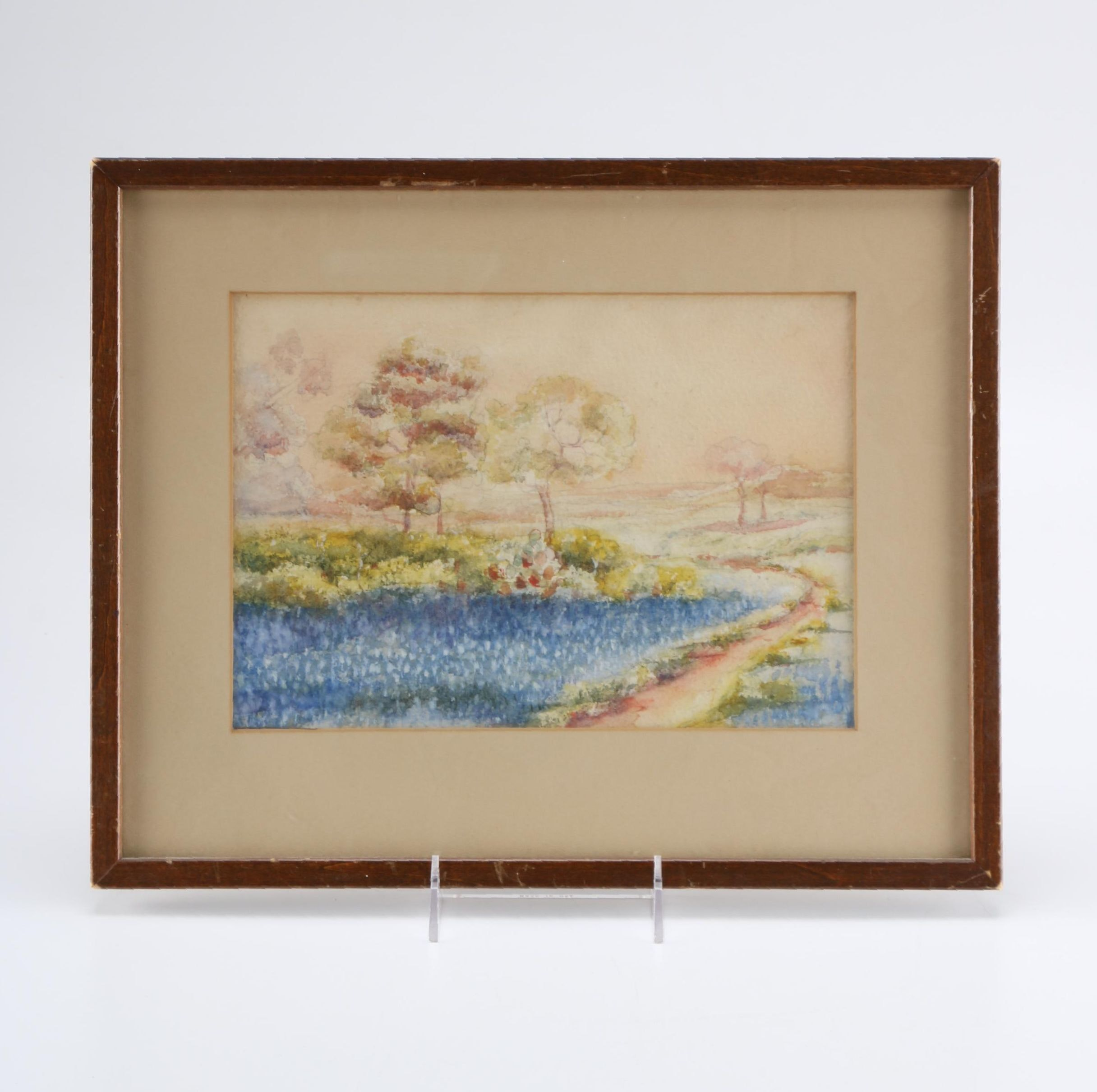 Watercolor on Paper Landscape Painting
