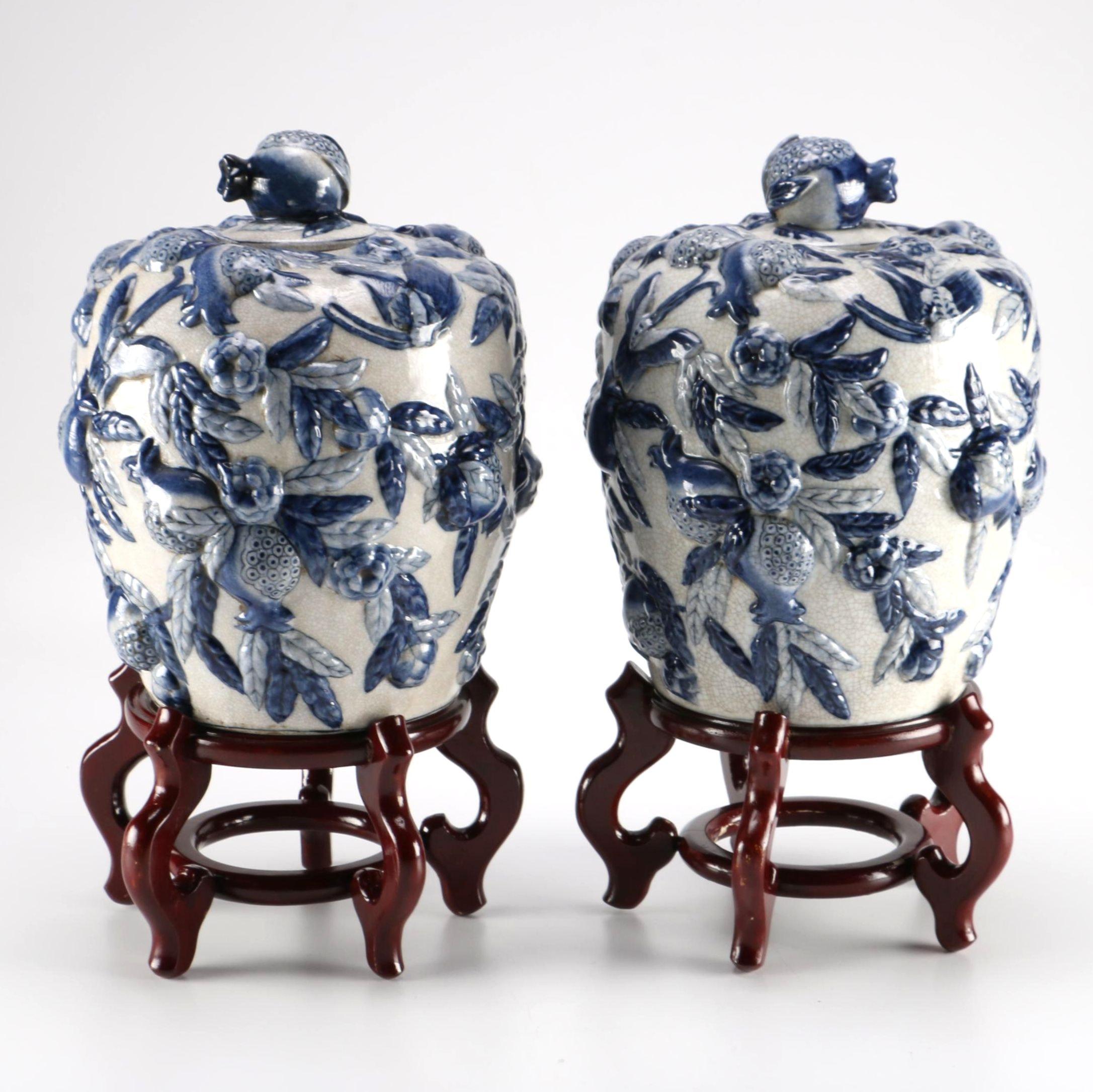 Chinese Decorative Ceramic Ginger Jars
