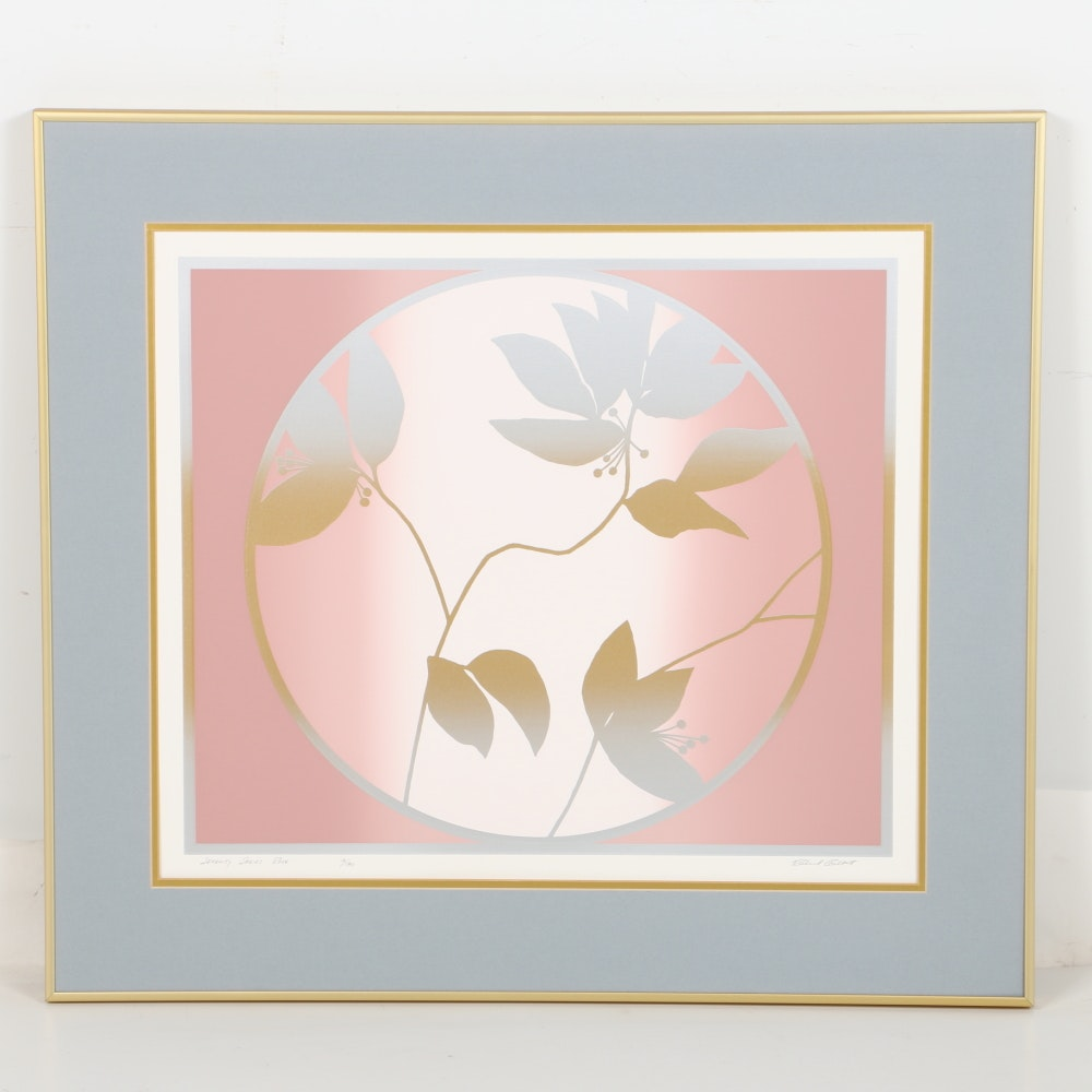 "Richard Gilbert Limited Edition Serigraph ""Serenity Series Rose"""