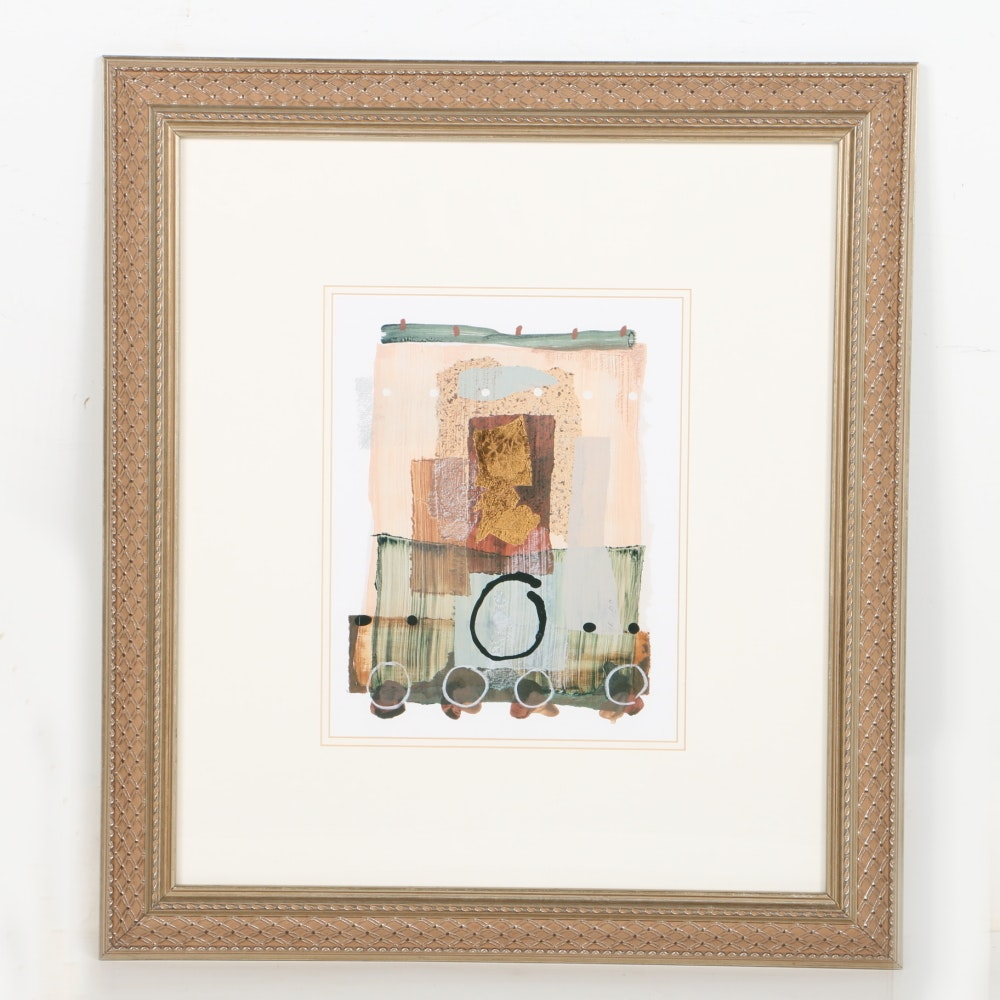 Framed Gold Foil Abstract Print