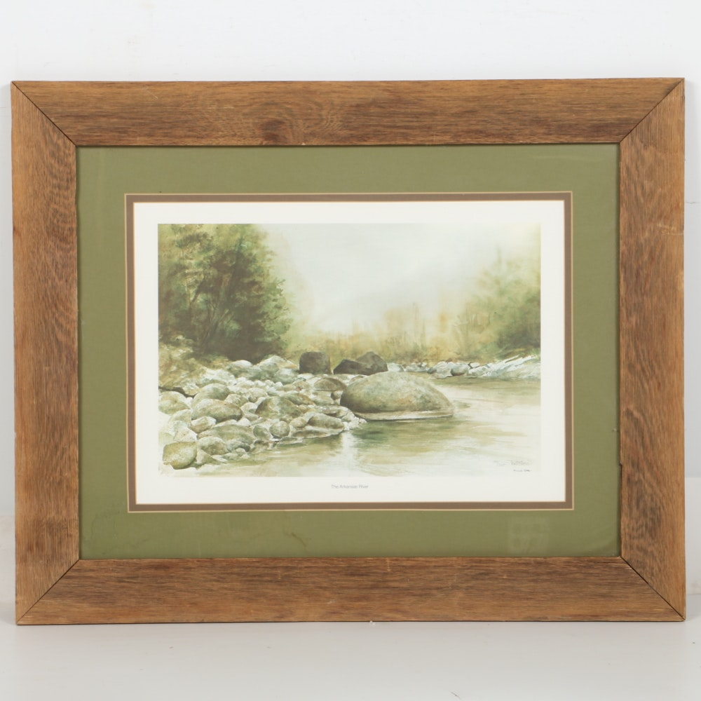 "Signed Limited Edition Offset Lithograph after Frank Gee ""Arkansas River"""