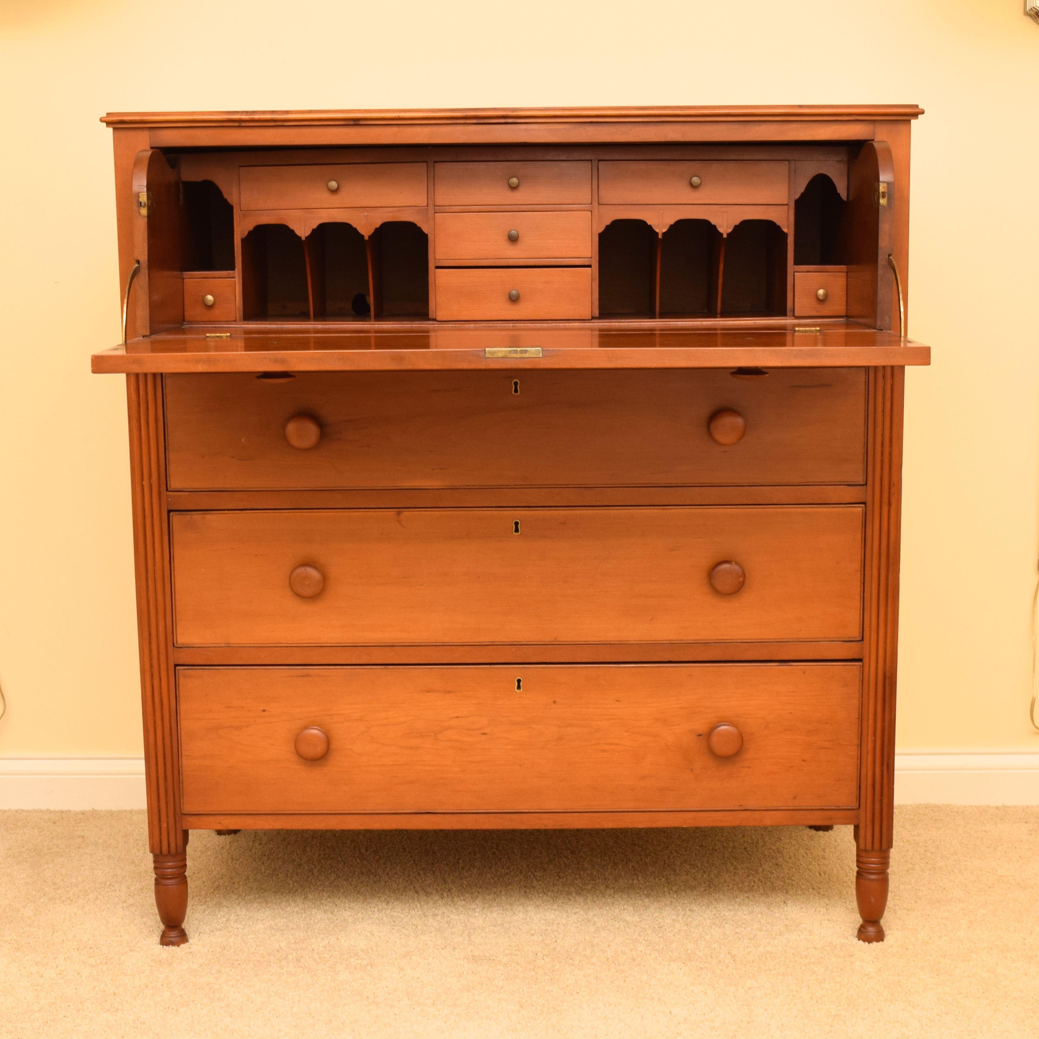 Antique Maple Butler's Desk