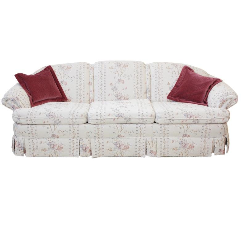 Floral Upholstered Sofa