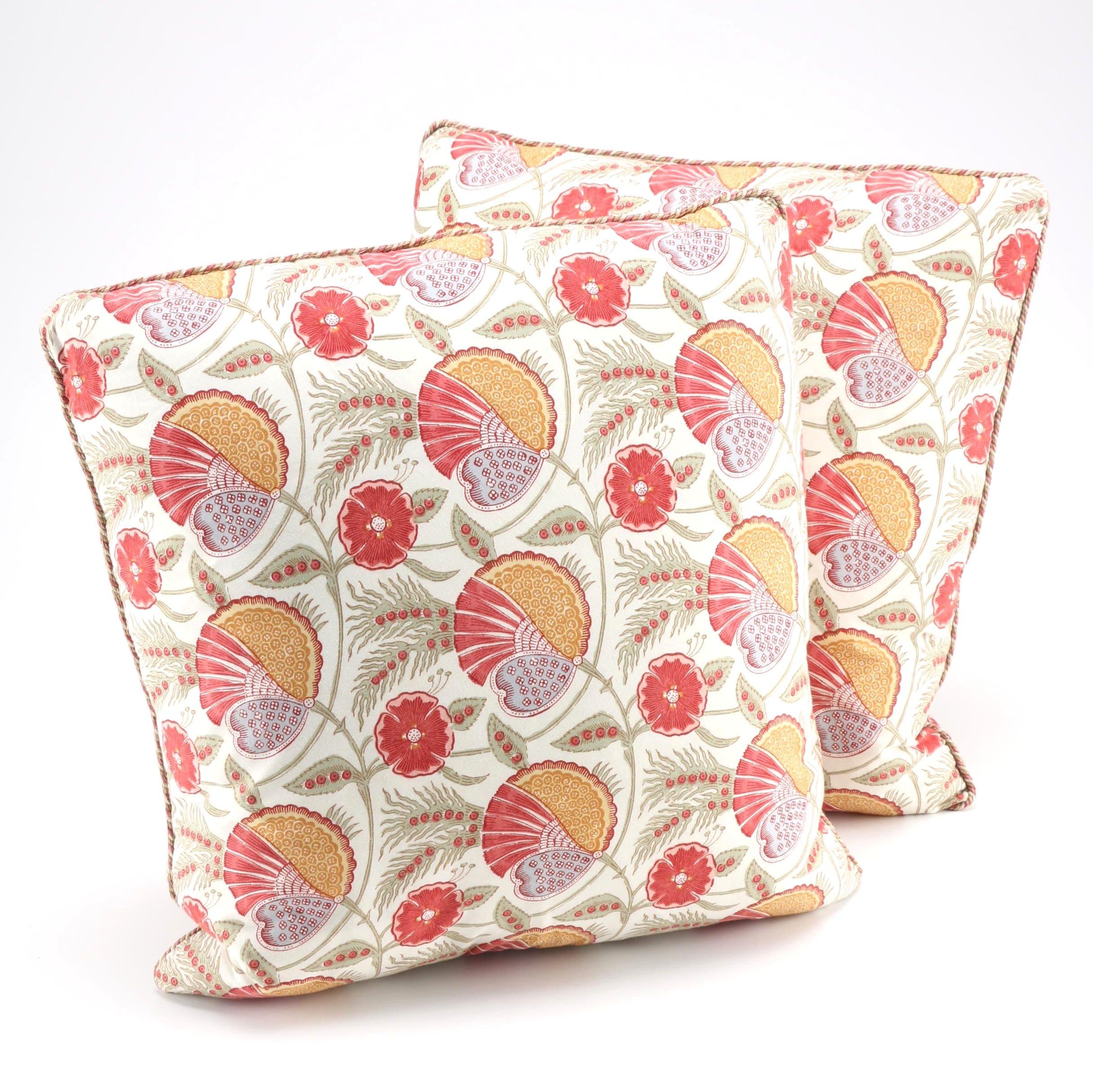 Floral Throw Pillow Set