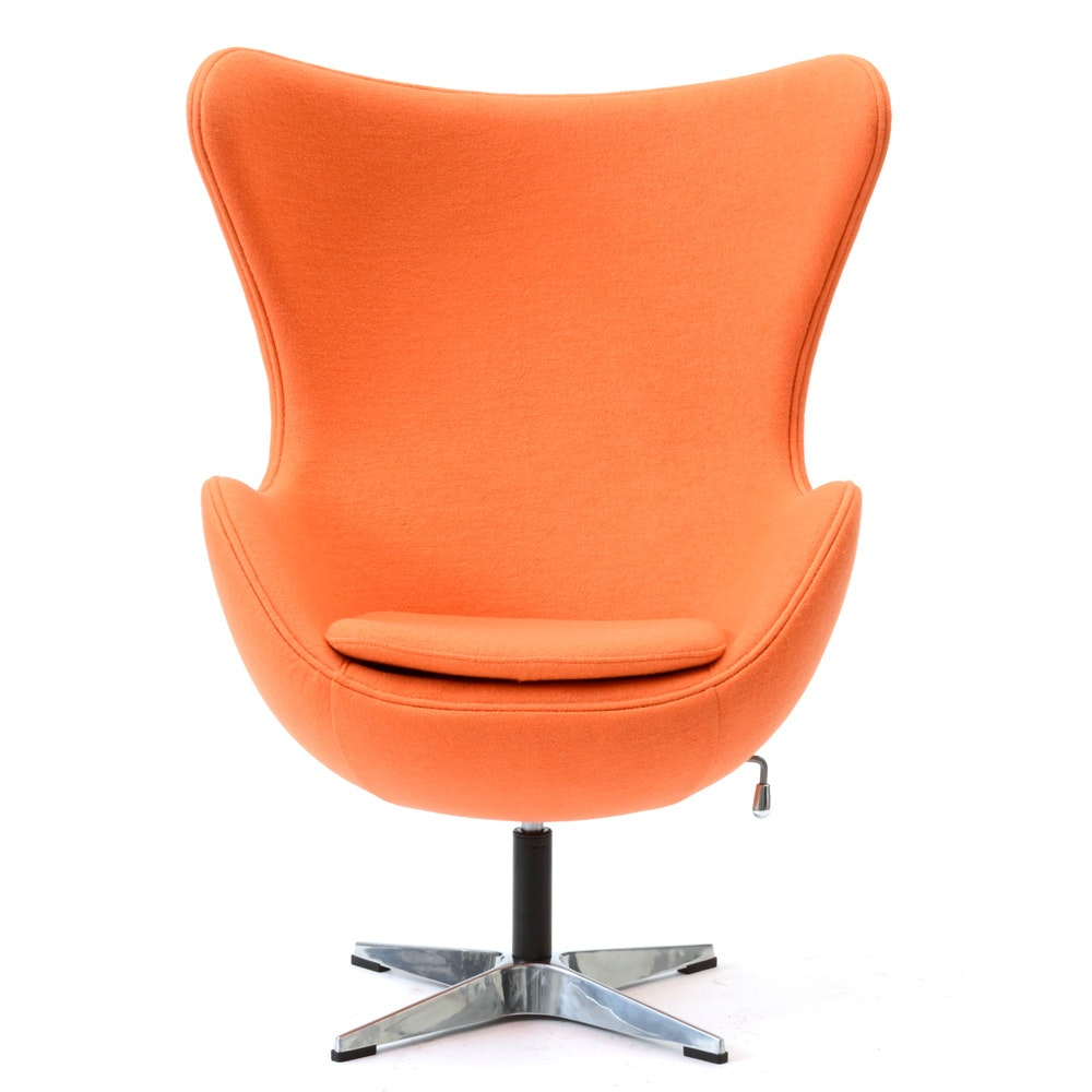 Ordinaire Belnick Orange Wing Back Swivel Chair ...