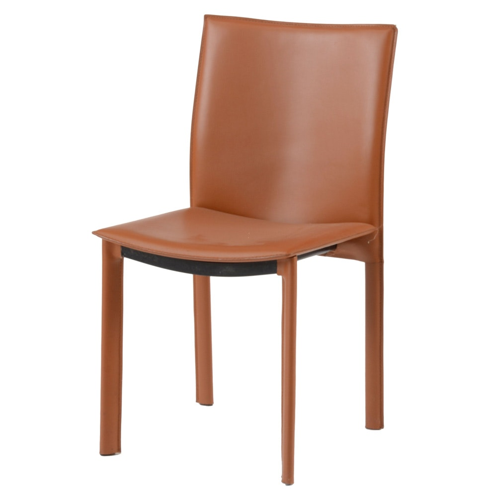 Modern Style Russet Side Chair