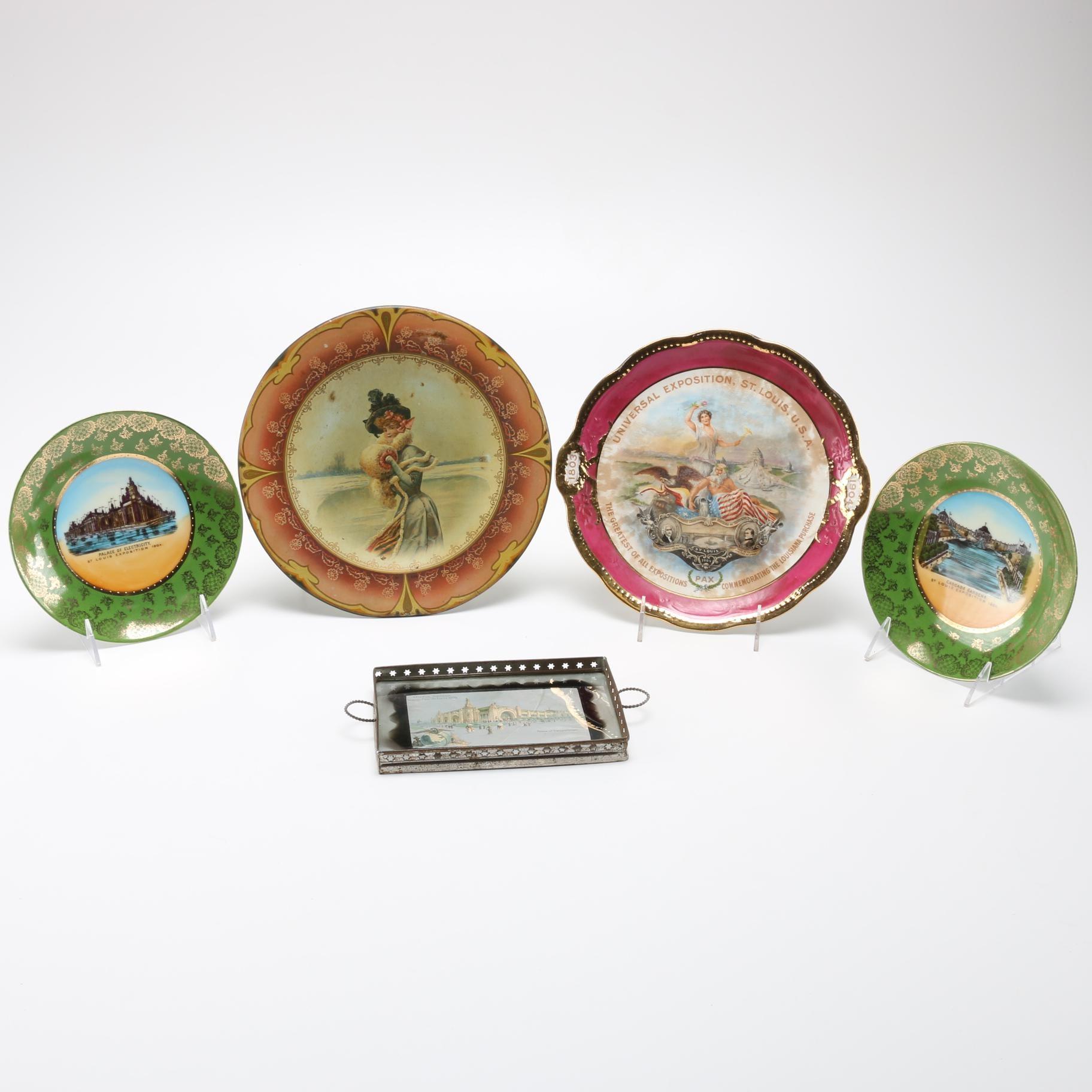 1904 St. Louis World's Fair Commemorative Dishes