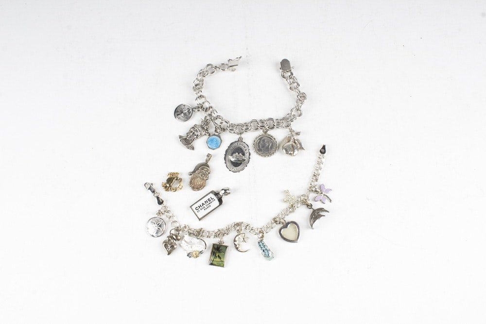 Sterling Silver Charm Bracelets and Individual Charms