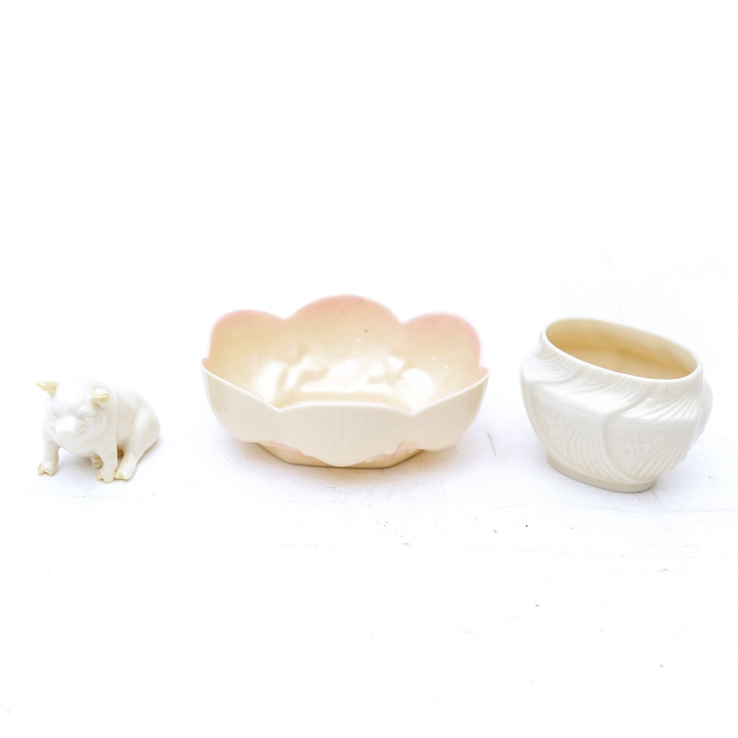 Collection of Belleek Dishes