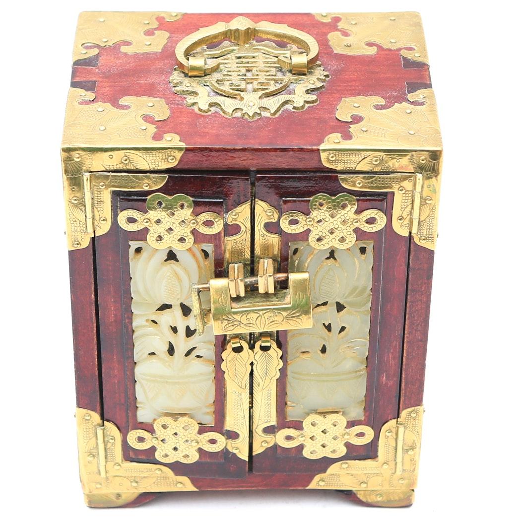 Chinese Wooden Decorative Jewelry Box