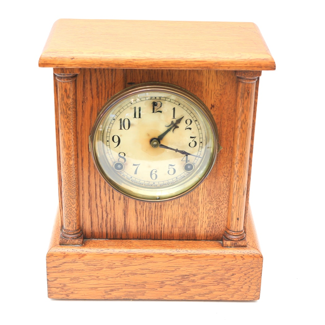 Sessions Clock Co. Wooden Mantel Clock