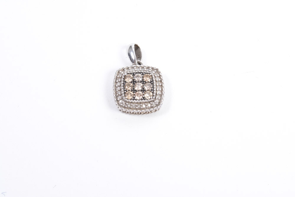 Diamond and Sterling Silver Pendant