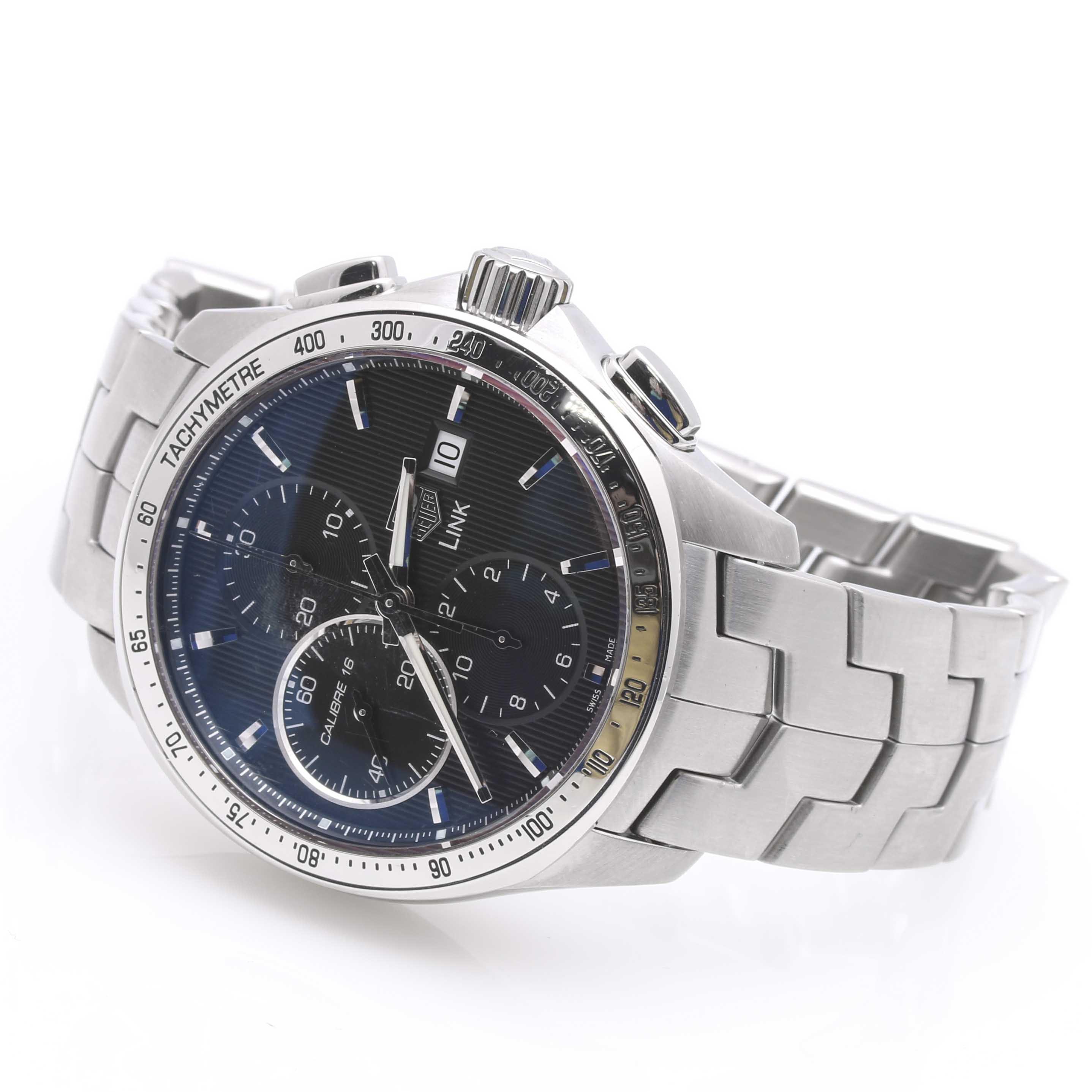 "Men's Tag Heuer ""Link"" Chronograph Wristwatch"